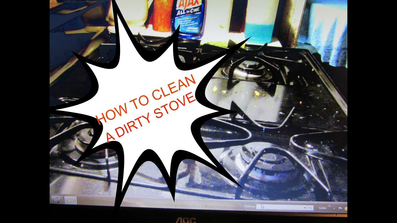 how to clean a dirty black stove w no streaks youtube. Black Bedroom Furniture Sets. Home Design Ideas