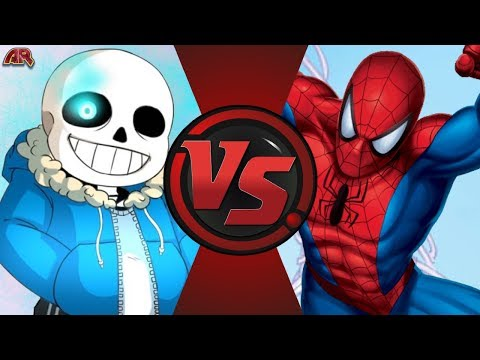 SANS vs SPIDER-MAN! (Undertale vs Marvel) Cartoon Fight Club Bonus Episode 36