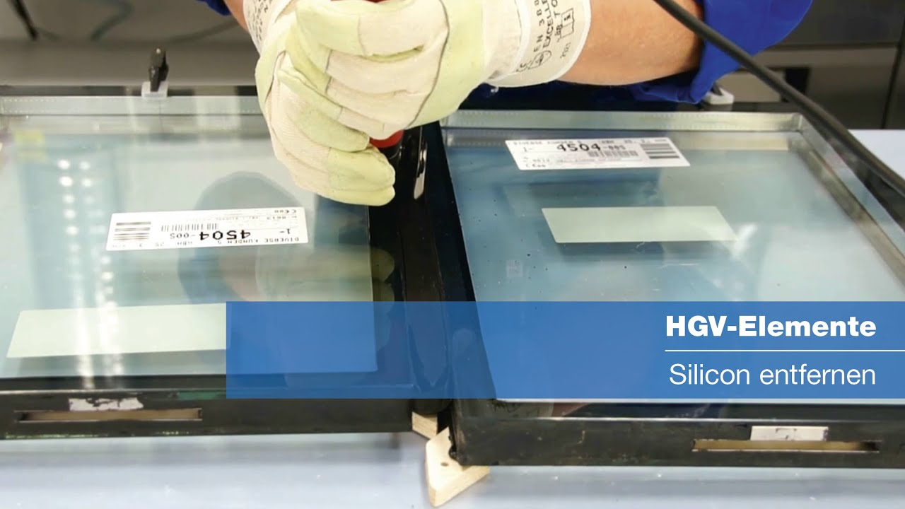 hgv-elemente -- silicon entfernen - youtube