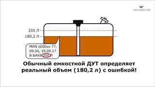 Датчик уровня топлива DUT E 2Bio - реакция на посторонние примеси в баке