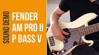 Fender American Professional II Precision Bass - Sound Demo (no talking)