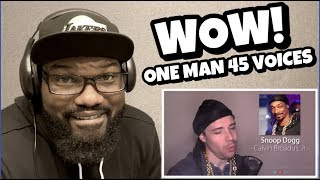 ONE GUY, 54 VOICES ( WITH MUSIC ) FAMOUS SINGER IMPRESSIONS | REACTION