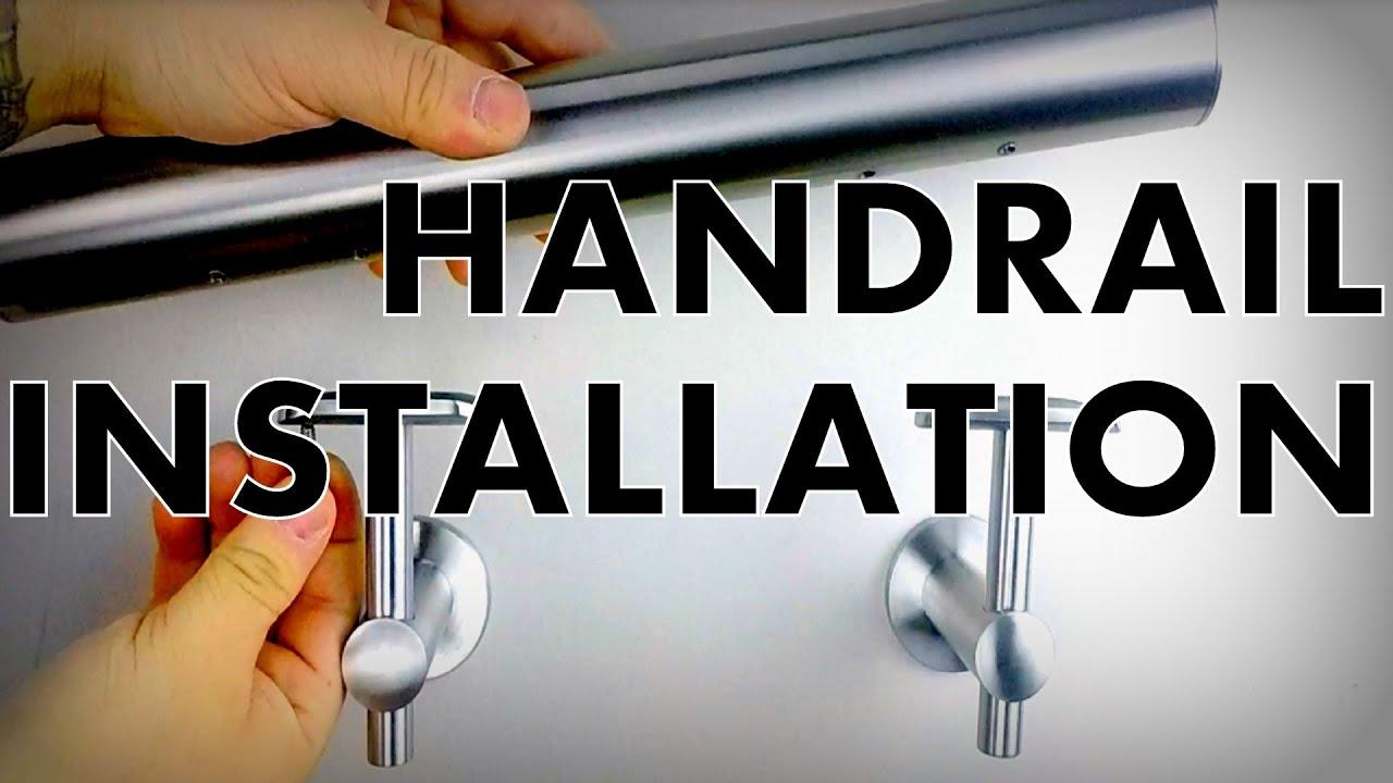 Instruction Video: Handrail Installation to Handrail Wall Bracket ...