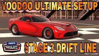 DRIFT WARS Stage 3 Drift Line + VOODOO Ultimate Setup (Dodge Viper) Carx Drift Racing