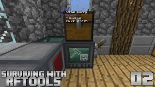 Surviving With RFTools :: E02 - Using The Builder As A Quarry