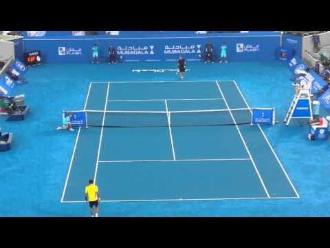 Andy Murray Feliciano Lopez 2015 Mubadala Live