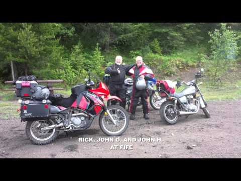 KLR650 Dual Sport Adventure - Columbia and Western Line Rail