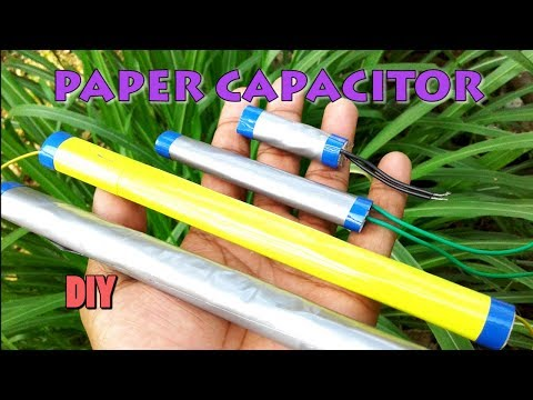 DIY paper capacitor (How to make a capacitor)