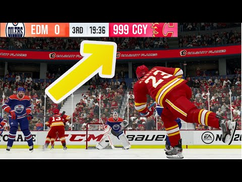 I Tried To Exceed The Score Limit In NHL 20... And THIS Happened