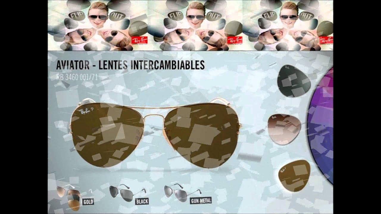 ray ban con lentes intercambiables