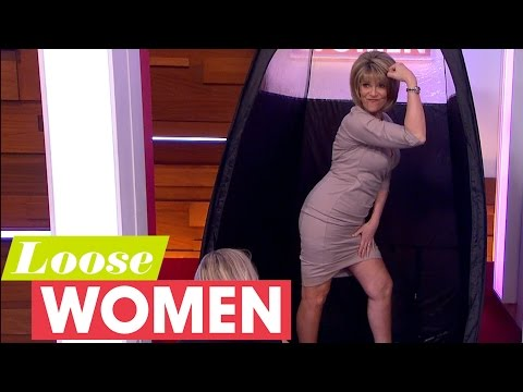 Ruth Langsford Gets Her Legs Out For A Live Fake Tan | Loose Women