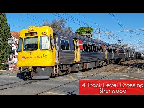 Queensland Rail Vlog 45: 4 Track Level Crossing - Sherwood