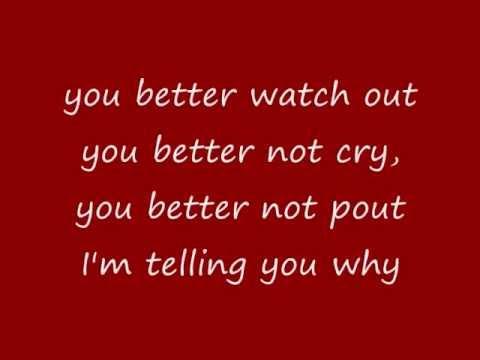 Mariah Carey - Santa Claus Is Comin' To Town (Anniversary Mix) (lyrics on screen) - YouTube