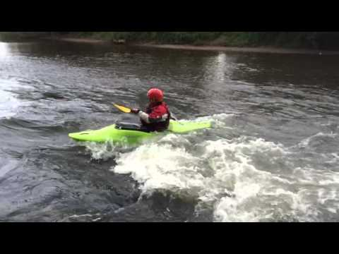 Introduction to Moving Water - Jason Humphreys surfing near Kerne Bridge, River Wye