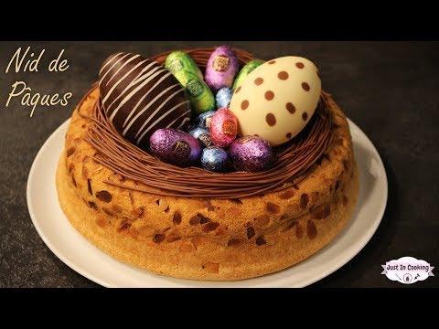 ❀ Recette de Gâteau Nid de Pâques : Biscuit de Savoie et Mousse au Chocolat ❀