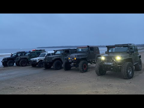 Нива против Jeep rubicon, жесткая финалочка