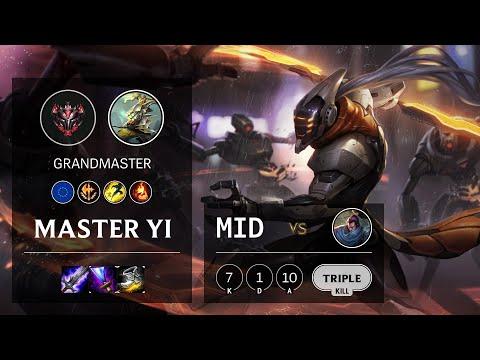 Master Yi Mid Vs Yasuo - EUW Grandmaster Patch 10.15