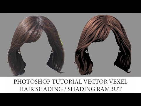 Photoshop Tutorial - Vector X Vexel Shading Rambut / Hair Shading thumbnail