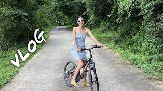 캠핑장에서 보낸 일주일! 계곡수영, 해질녘 자전거 산책, 오징어부추전, 불멍.. 나영은 자연인이다