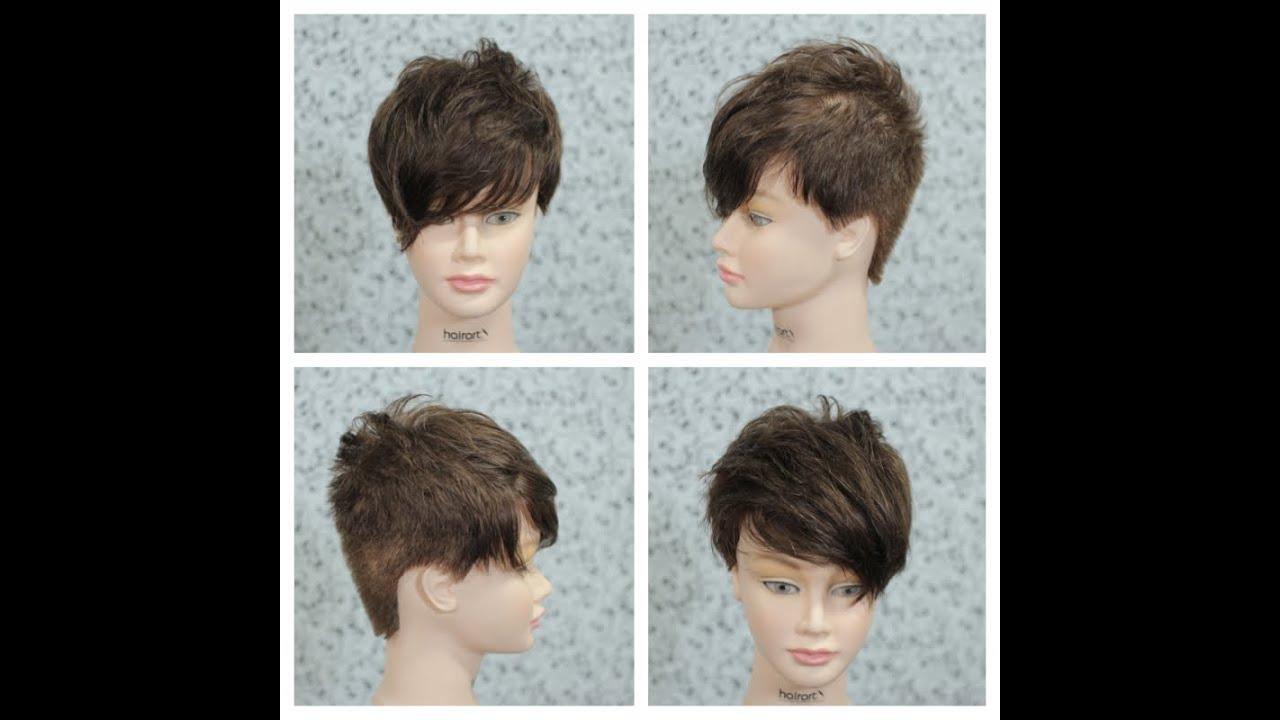 female short haircut tutorial