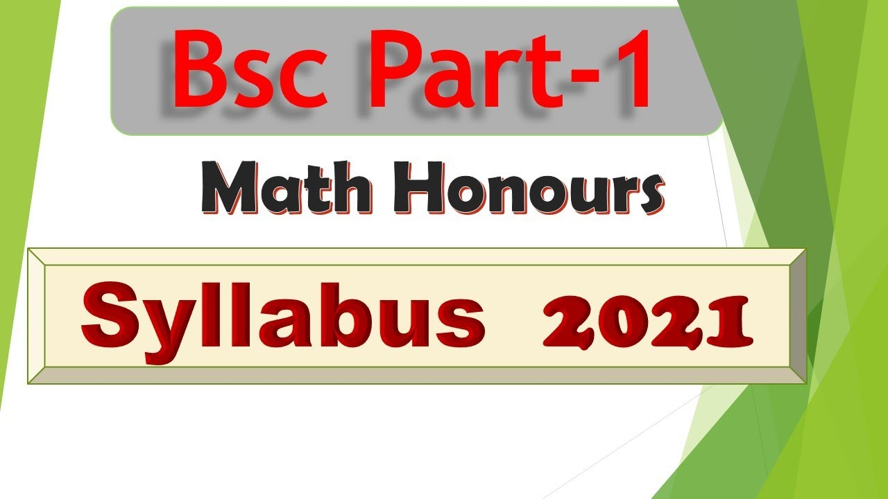 bsc part-1 math honours syllabus in hindi