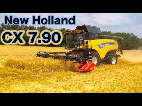 New Holland Mietitrebbia CX 7.90- MESSA IN CAMPO