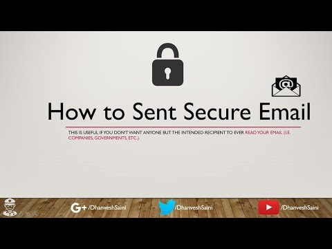 How to Sent Encrypted  Email