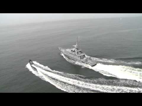 MST 750SR Stern Ramp Launched from Damen SPa 4207 Offshore Patrol Vessel