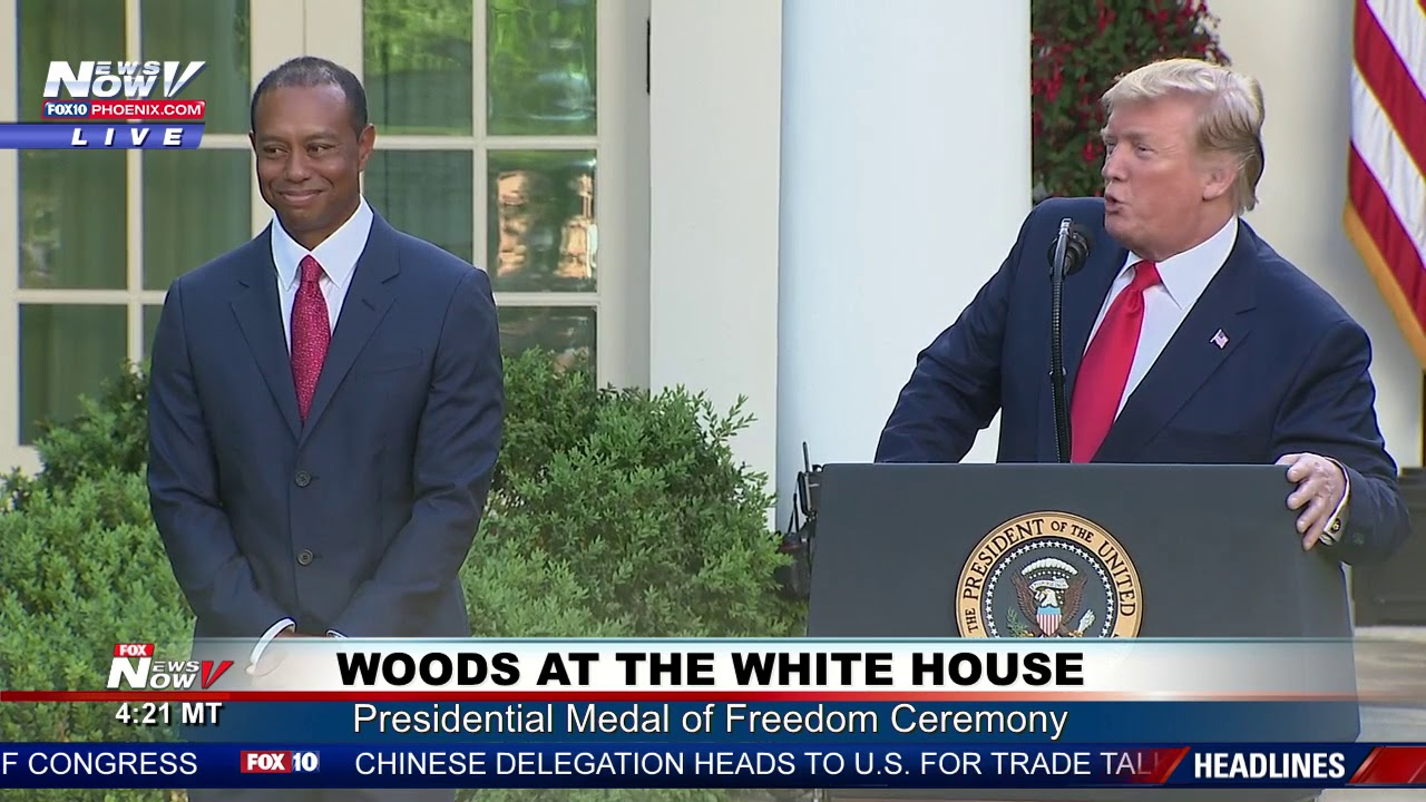 What Tiger Woods said during his Presidential Medal of Freedom ceremony at the White House