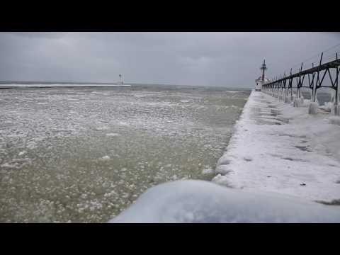 St. Joseph Light House  Ice wave