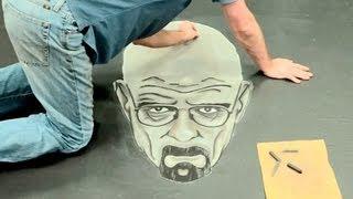 Breaking Bad 3D Chalk Art  AWE me Artist Series