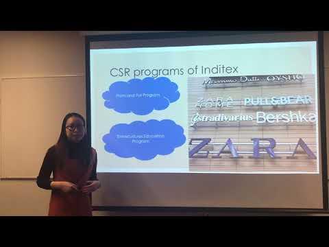 An Evaluation of Inditex's CSR program