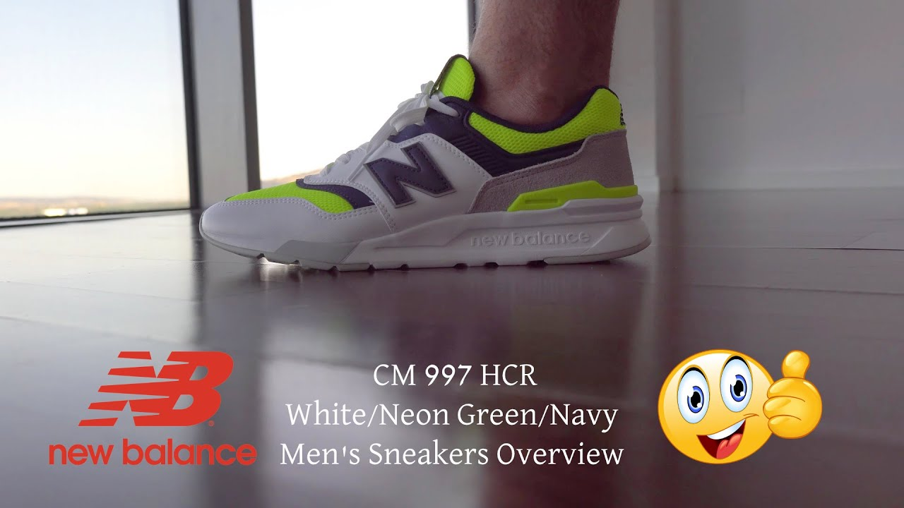 Capilla templar plan  🔥 New Balance CM 997 HCR White/Neon Green/Navy Men's Sneakers Overview (on  feet) 4K by #EasyLifeES - YouTube