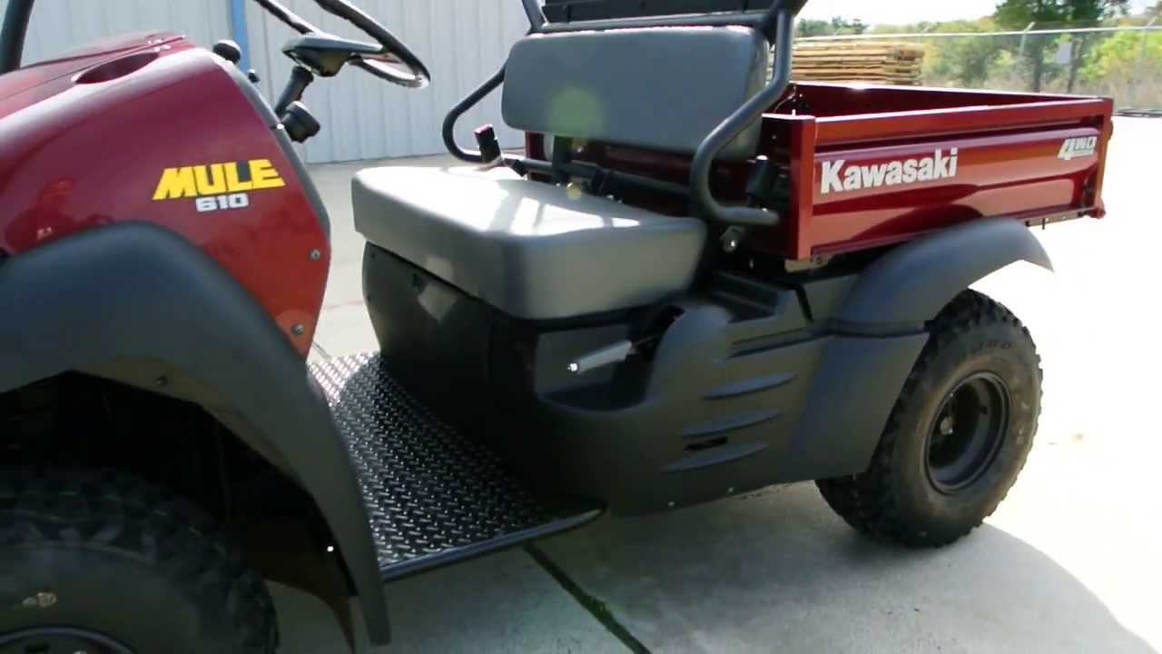 Kawasaki Mule 610 Red Free Top And Hitch Included