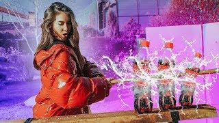 Slow mo Show | КАТАНА VS СТЕКЛЯННАЯ COCA COLA | Vasilisa