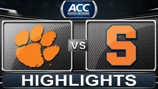 2013 ACC Football Highlights | Clemson vs Syracuse | ACCDigitalNetwork