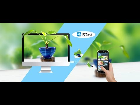 ezcast screen mirroring wifi dongle demo and review with a smartphone