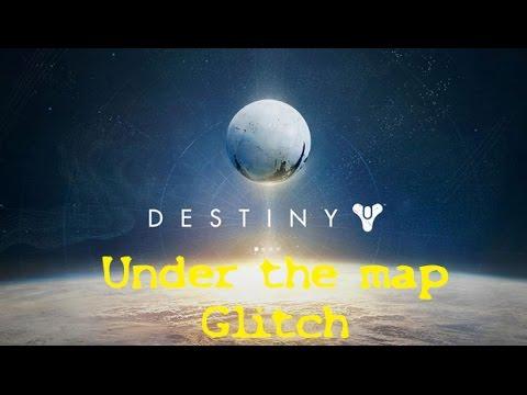 Destiny Under the map glitch in Mars