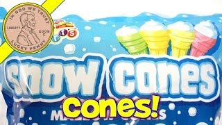 Alberts Candy Snow Cones Mallow Cones, Marshmallow Filling Ice Cream Cones