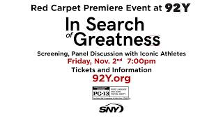 """Join Gabe Polsky and SNY for the premiere of """"In Search of Greatness"""""""