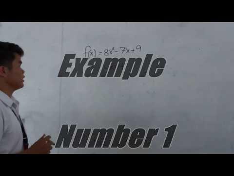 General Mathematics PT(EVALUATION OF FUNCTION), St. Januarius (IA-2), Group 7.
