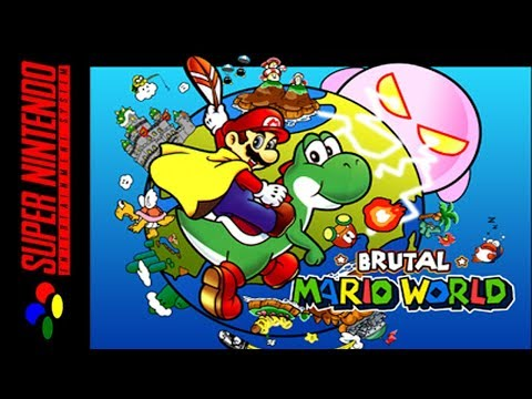 [LONGPLAY/HACK] SNES - Brutal Mario World [All Exits] (HD, 60FPS)