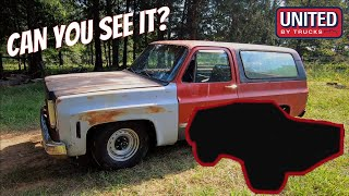 "WHEN TWO BECOMES ONE: an introduction to our frame-up 2wd squarebody K5 ""build"""