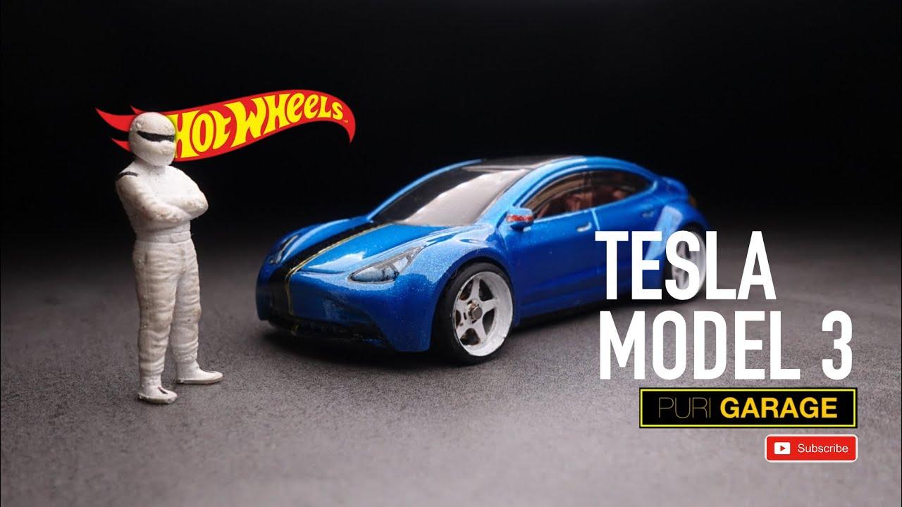 Custom Hot Wheels Tesla Model 3