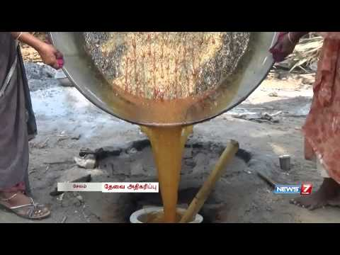 Palm jaggery production increases in Salem