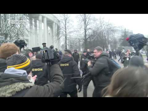 Hundreds Detained In Antigovernment Protests In Belarus