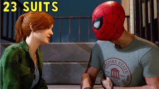 Spider-Man (23 different Suits) X MJ Romance Ruined by Miles - Marvel's Spider-Man PS4 2018