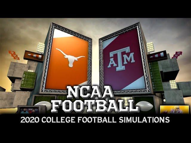 Texas vs Texas A&M 2020 NCAA Football Simulation