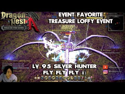 Lv 95 Silver Hunter Event Treasure Loffy !!!  Dragon Nest INA