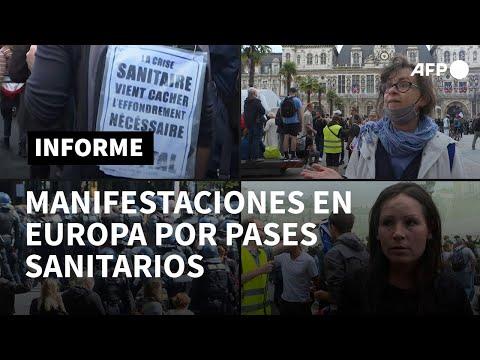 Casi 240.000 franceses en cuarta semana de protestas contra medidas anticovid-19 | AFP